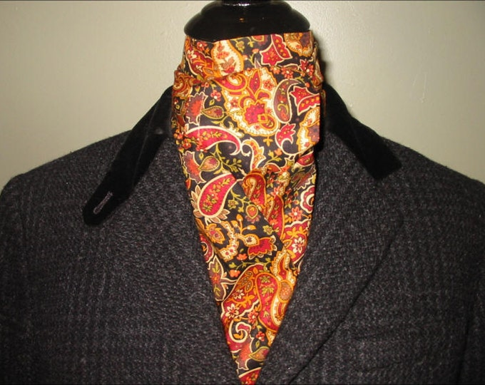 Rust Black Gold Paisley Stock Tie