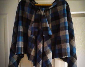 100% Super Soft Flannel Poncho