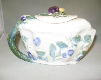 Ceramic Hand BuiltSummer Fruit Tea Pot