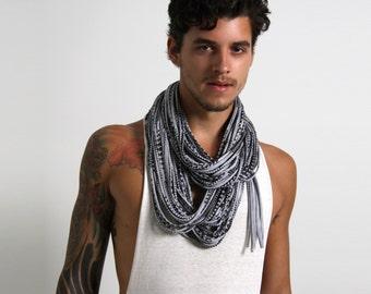 Infinity Scarf, Mens Scarf, Boyfriend Gift, Mens Gift, Festival Clothing, Burning Man, Husband Gift, Mens Necklace, Gift for Boyfriend, Mens