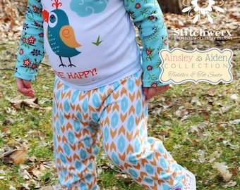 Toddler Child Knit Pants Sewing Pattern, Easy Toddler Clothes Sewing Pattern, Yoga waist Childs Pants Sewing Pattern, Size 18m to 6 Years