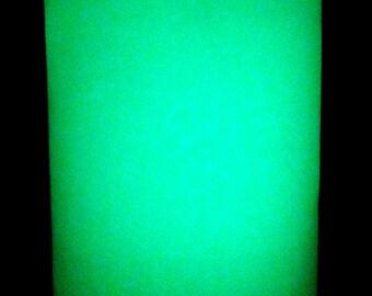 Glow In the Dark Vinyl Sticker Craft Sheet - 5 x 6.5 inch - 3M Photoluminescent Film 6900 HPPL