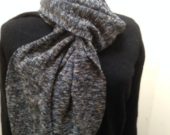 Handwoven scarf in Pebble rayon chenille
