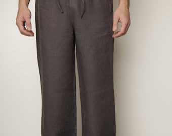 Linen Classical  Pajama Trouser for Men/ Linen Mens Loungwear/ Linen Sleepwear For Men