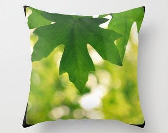 Sunshine, leaf, nature, forest,  Home Decor, Decorative, Throw Pillow Case, Pillow Cover