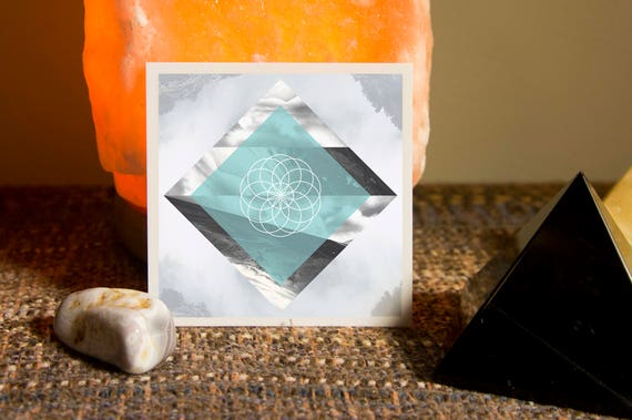 Tube Torus Sacred Geometry Medium Size Sticker - Vinyl Stickers, seed of life, electro-magnetic, energy field, ancient symbol, crystal grid