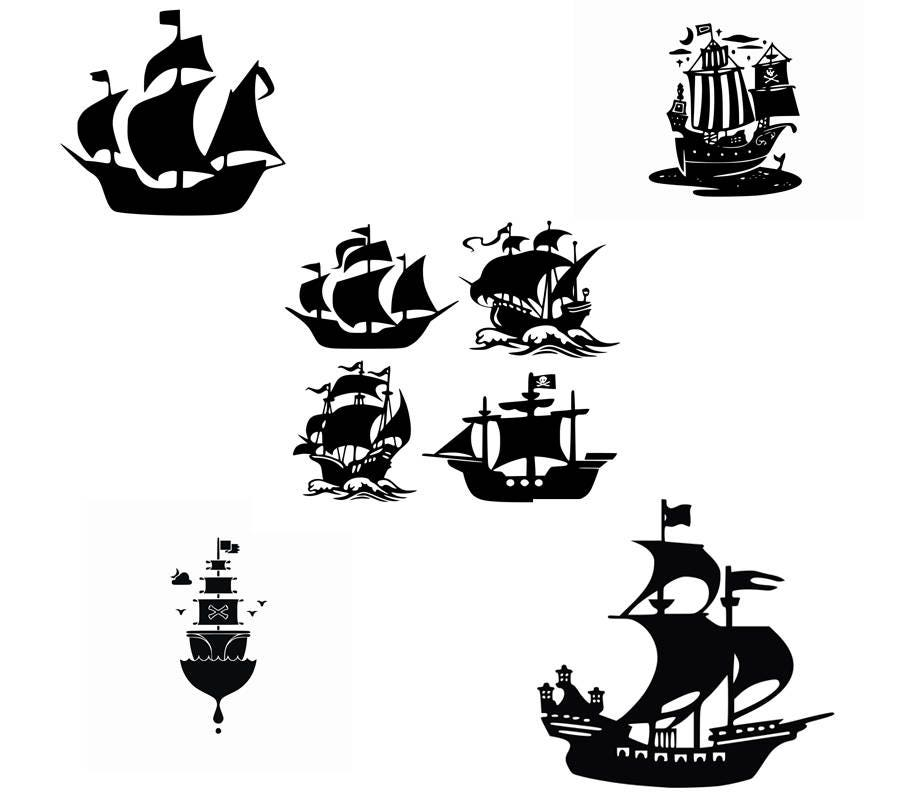 Pirate Ship,Ship SVG Pirate Clipart Cut files for