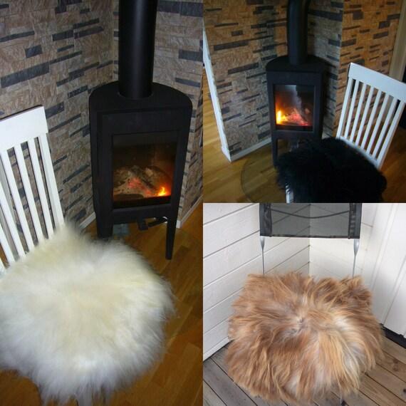 Sheepskin seat cover chair cushion for walkers car seats garden swings balcony furniture fur pad