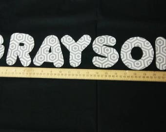 Ready to sew applique letters/name
