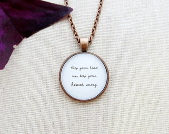 Keep Your Head Up Handcrafted Pendant Necklace