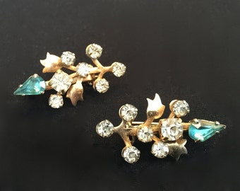 Set of 30's Emerald Green Rhinestone  Pins                     VG1031