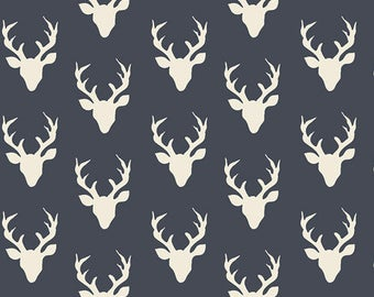 Tiny Buck Forest Twilight - Hello, Bear - Bonnie Christine - Art Gallery Fabric - 100% Quilters Cotton HBR-4440-3