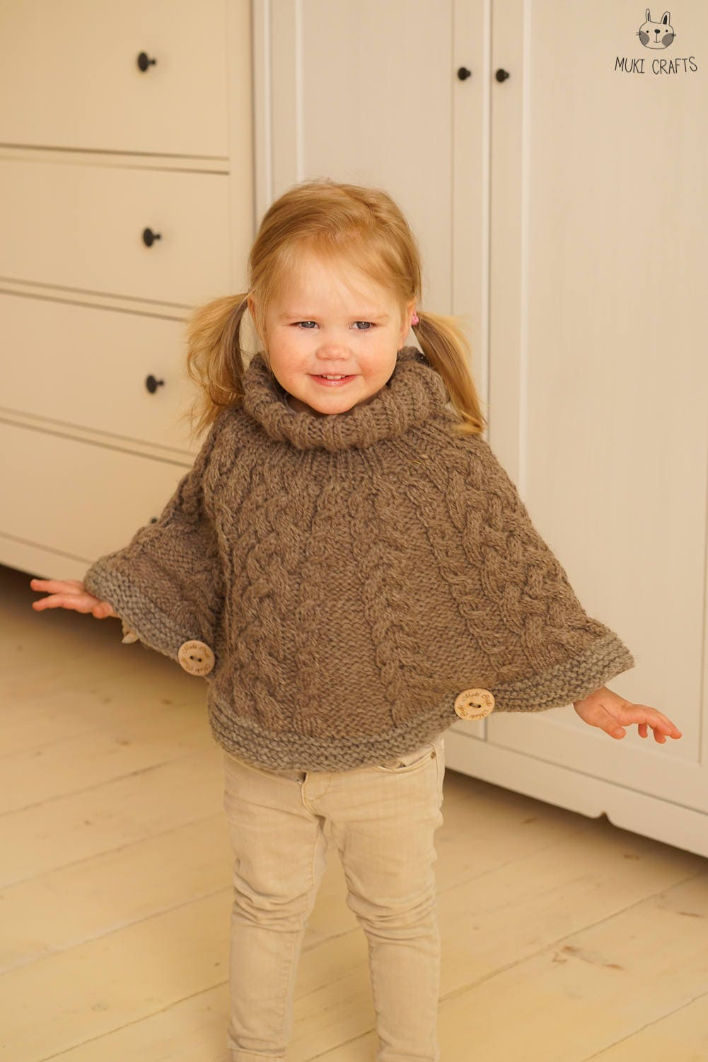 Dorable Toddler Poncho Knitting Pattern Illustration - Sewing ...