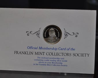 1971 Franklin Mint Sterling Silver Charter Member Coin Collectors Society Nice!!