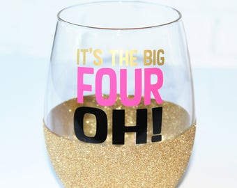 40th Birthday Gift for Her // 40th Birthday Wine Glass // 40th Birthday Party // Milestone Birthday Gift // 40th Wine Glass // Gift for Her