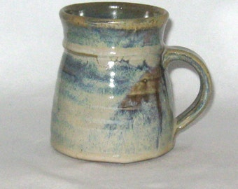 16 oz. Stoneware Mug, Wheel Thrown, Handmade Ceramic Mug, High Fired, Made in Colorado, Pottery Cup, Handthrown Pottery Mug