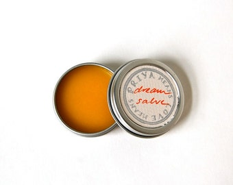 Dream Salve - orange blossom, citrus, and lavender salve for peaceful sleep (1 oz screwtop tin)