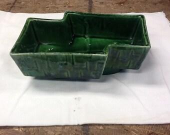 Vintage UPCO Dark Green Pottery Planter