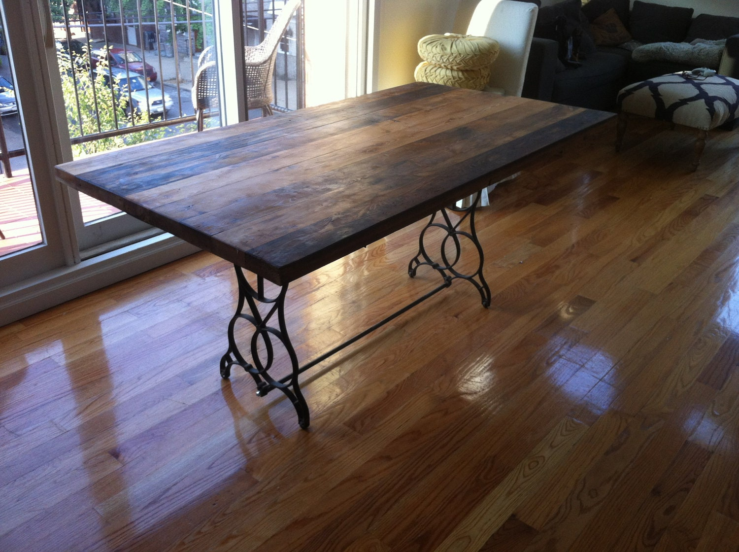 Reclaimed Wood Table Top Dining Table Kitchen Table Free