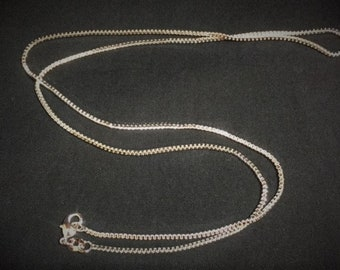 "Sterling silver 11"" necklace chain"