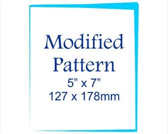 """Modified Pattern 5"""" X 7"""""""