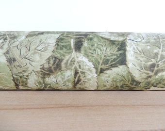 Green leaves draft stopper. Door draft Stopper. Door or window snake. Draught excluder. House and home accessory.eco friendly energy saver.
