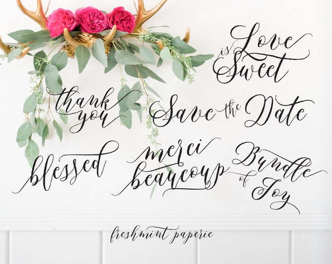 typography overlays - photo overlay - text overlays - Scrapbooking Craft Projects - calligraphy overlay - freshmint paperie