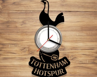 Tottenham Hotspur F.C. Vinyl Record Wall Clock Football Club London Spurs Art Decorate Home Style UNIQUE GIFT idea for Him Her (12 inches)