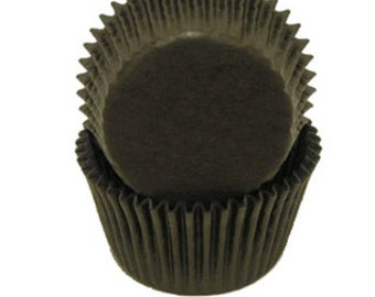 CK Glassine Baking Cups Black.  About 75 Baking cups