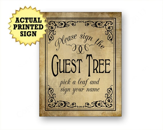 Sign the guest tree, pick a leaf sign, guest tree sign, vintage wedding guest tree, retirement sign, bridal shower sign, special event sign