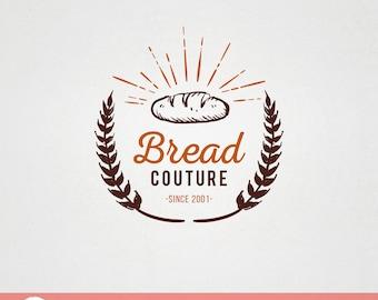 Custom Premade Food Logo Design - Bread Couture bakery patissiere logo F005