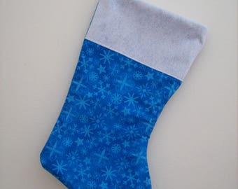 Beautiful Sparkle Snowflake Christmas Stocking