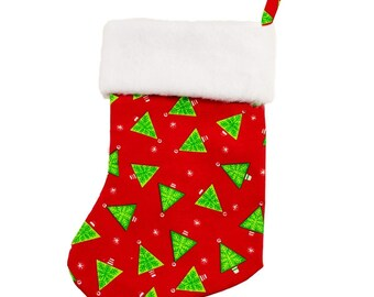 Wedge Christmas Tree Stocking (with or without personalization)