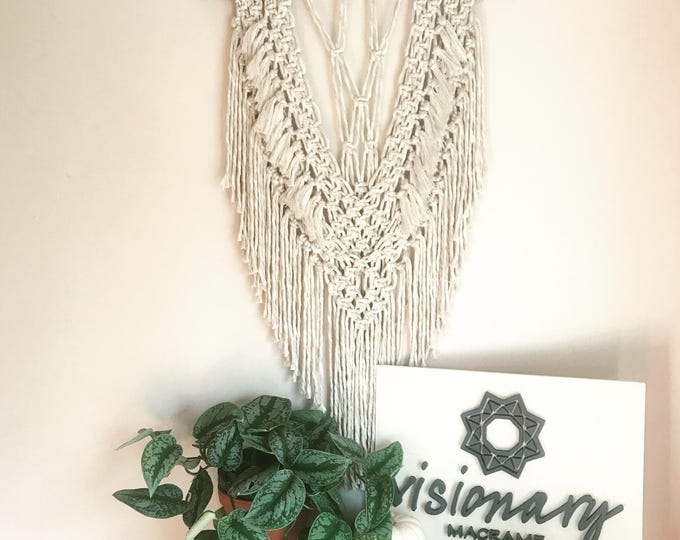 S A N D Y - Large cotton/linen macrame wallhanging