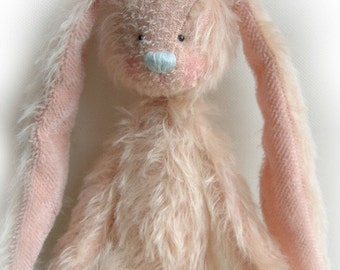 Melody OOAK artist bear rabbit e-pattern by Jenny Lee of jennylovesbenny bears PDF