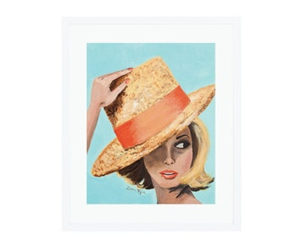 The Straw Hat Giclee Print