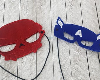 Captain and Skull Masks, Cap't, Capt, Red, Comic Books, Hero, Villain, Comics, USA, America