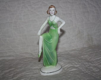 Hertwig Katzhutte German Porcelain Lady