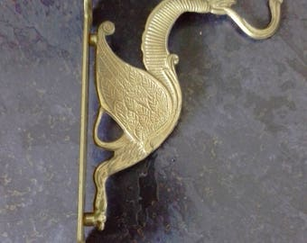 Brass clothes or coat hook