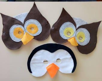 Owl or Penguin felt mask