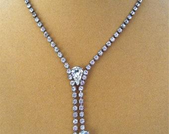 Vintage Crystal Diamond Necklace