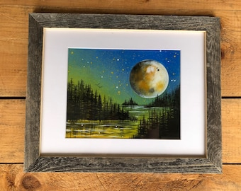 Lake at Night Print of Original Painting