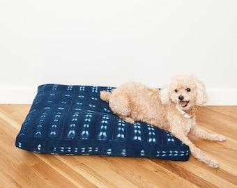 Indigo Shibori Pet Bed // Extra Extra Large XXL