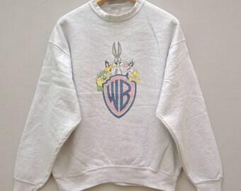 Vintage Bugs Bunny Pull Over Sweatshirt Cartoon Funny Sweater