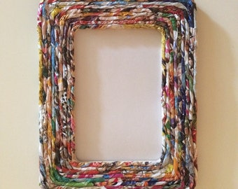 Recycled Magazine Frame