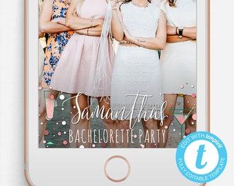 Bachelorette Snapchat Filter, Bachelorette Party Snapchat Geofilter, Editable Snapchat Filter, Templett, Bachelorette Party Filter