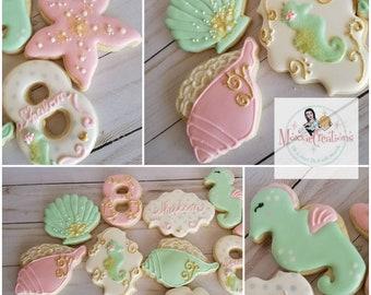 1 Dz. Beach themed cookies