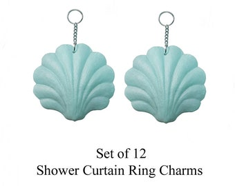 Decorative Shower Curtain Ring Charms...Shells