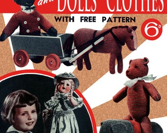 Bestway #26 c. 1920 - Vintage Knitting and Crochet Patterns for Toys & Doll's Clothes