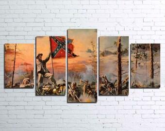Civil War 5pc Canvas Set